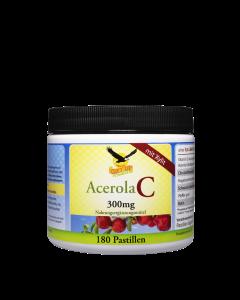 Vitamin C Acerola 300mg, 180 Lutschpastillen mit Xylit  - VEGGY